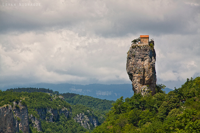Katskhi pillar-Most remote buildings in the world