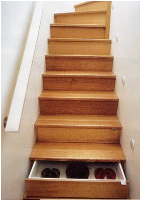 Stair designs for small houses - Storage stair
